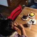 ハロウインのケーキ食べました。