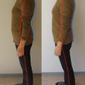 慢性の肩こりの人の共通点、首が載っていない。