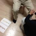 気功整体講座で膝痛の施術