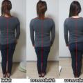 肩こりは背骨も歪む。気の通った姿勢はウエストにくびれがでる。
