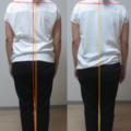肩こり姿勢の代表的なもの。体の前傾と首のリキみ