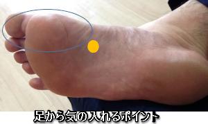 足裏の整体