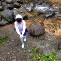 那須でキャンプ。川の水の美しさ。