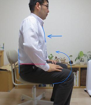 椅子 骨盤水平2