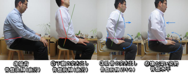 姿勢練習(椅子)2